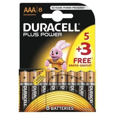 ΜΠΑΤΑΡΙΕΣ AAA DURACELL 8TEM PLUS POWER MULTIPACK